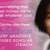 JEAN JUNIOR: Recent Graduate, Fulbright &#038; Rhodes Scholar, iTEACH
